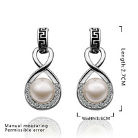 High quality!Promotion 18k gold plated jewellery earring,fashion charming Austria crystal pearl women pendant earring E496