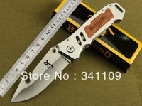 5pcs / lot BROWNING Extreme survival folding blade knife outdoor goods survival knife tactacal hunting camping 56HRC 5cr13 free