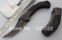 Free Shipping COLD STEEL 60BS Black Sable Hunting Survival Folding Knife 440C Blade Micarta Handle Retail/Wholesale