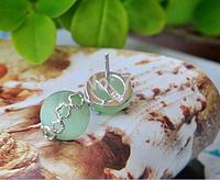 100% Guaranteed Real 925 Sterling Silver Stud Earrings With Opal Stone Wholesale Earrings Bijoux YH1040