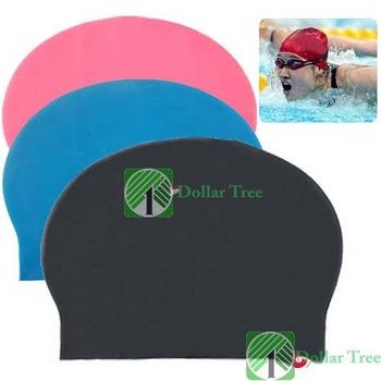 Free shipping: Fashion Durable Sporty Rubber Swim Cap Swimming Hat wholesale