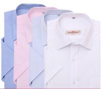 11Colors Free Shipping New 2014  Mens Dress Shirt Short Sleeve Designer Stripe And Solid Shirt XS-6XL CJ8-562