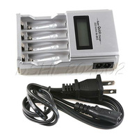 Smart AA AAA NiMH NiCD LCD Display Rechargeable Battery Quick Charger US Plug