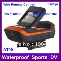 Extreme gopro Sport camera 1080p AT90 Waterproof Go pro DVR Action camera helmet camcorders G-SENSOR camcorder 1920x1080p aee
