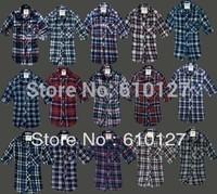 2014 New arrival women shirt long sleeve cotton shirt  Woman Casual Lapel Shirt Plaids Checks Shirt Top Blouse 28 colors