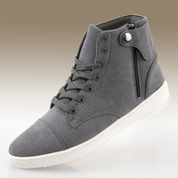 Free shipping 2013 new winter fashion boots flat shoes high shoes nubuck leather men's boots