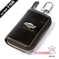 Free Shippnig CHEVROLET Logo Genuine Leather Car Key Bag Auto Key Wallet Key Holder 19 Kinds Logo Optional