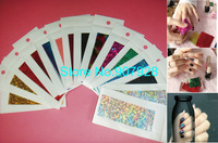 100pcs(=50designs) x New arrival Transfer Nail Foil Stickers for DIY Nail Art Decoration-Free Shipping Wholesale