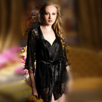 Sexy Lingerie Night Wear pajama lace skirt Lady's see-through, W1003