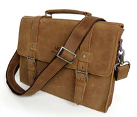 Brand High Quality  Oil Leather Handbags BriefcaseLaptop  Messenger Men's Shoulder Bag