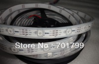5m DC5V IP65 WS2812B led digital strip,30pcs WS2812B/M with 30pixels;36W;white pcb;IP68;epoxy resin filled in the tube