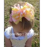 baby girls  cute colorful curly ribbon bow,grosgrain ribbon bows,hairbows,headbands