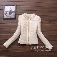 2014 autumn winter women coat  fashion metal zipper lady  cotton-padded jacket slim thermal wadded jacket brand warm coats