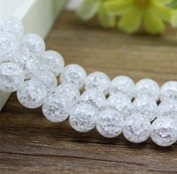 Free shipping,Popcorn Crystal, Natural White Color Crystal 6-16mm Round Bead,Length About 15inches