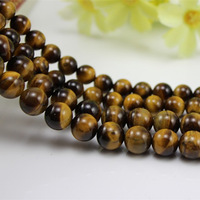 Free Shipping,Natural Yellow Tiger Eyes Stone, Shi Mu Alexandrite Scattered Beads, To Ward Off Bad Luck,6-16MM,Refill