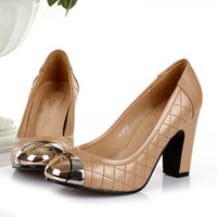 Free Shipping  Fashion Genuine Leather Boots Lady High Heel Shoes Top Quality big brands  party shoes/ wedding sexy shoes