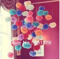 "20pcs/Lot 6""Tissue Pom Poms Paper Flowers Ball Paper Peony Bouquet Garland  Decoration Artificial Flowers For Decoration Lot"