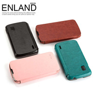 Original Genuine Enland Series Top Quality PU Leather Cover Case For LG Nexus 4 E960 Wallet Case