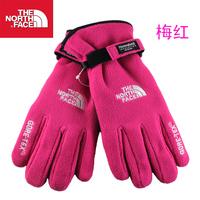 Women's fleece gloves Women double layer thickening skiing . polar fleece gloves fabric thermal gloves 5