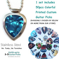2013 Free Shipping New Arrival High Quality Cheap Stainless Steel Guitar Pick Holder Necklace