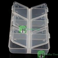 Free shipping: New Empty Pill Medicine Drug Storage Case Box 6 Cells wholesale