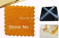 Factory Wholesale 10 PCS Bear Face Shape  Transparent Embossing Rolling Pins sugar craft tools Fondant Cake Decoration--A194