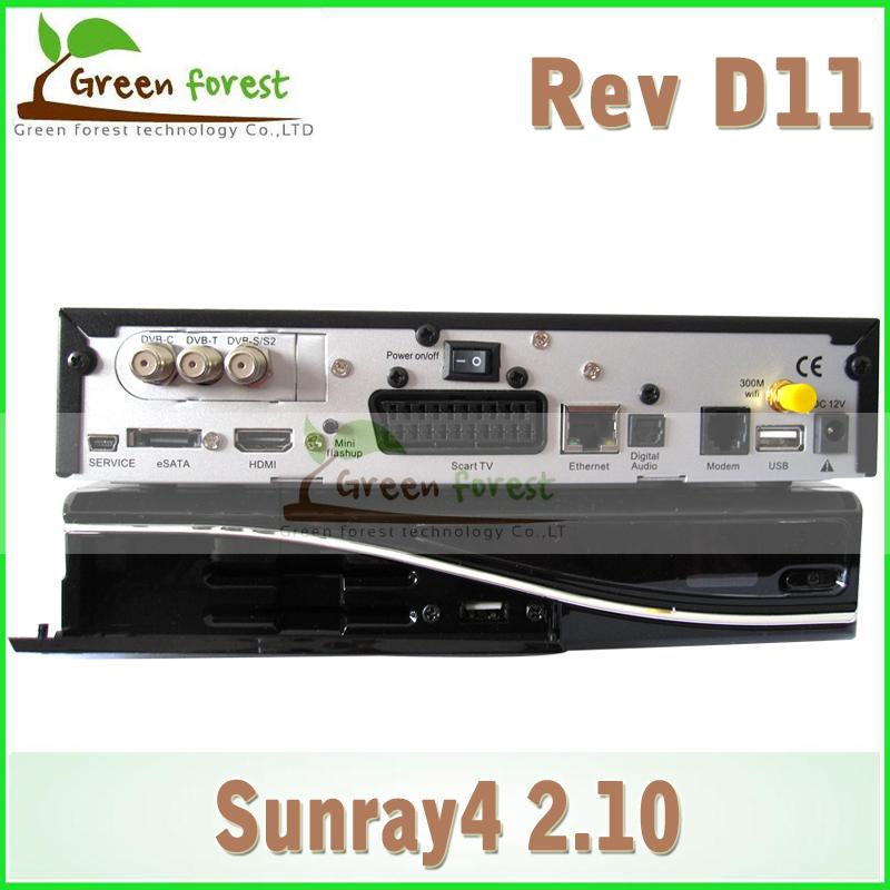 Sunray SR4 2.10 D11 800hd SE With Rev D11 3 in 1 tuner -T-C-S(2S) Triple tuner wifi SIM2.10 Sunray4 HD se high quality decoder(China (Mainland))
