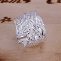 Free Shipping!Wholesale 925 Silver Ring,925 Silver Fashion Jewelry,Big reticulocyte Ring SMTR024