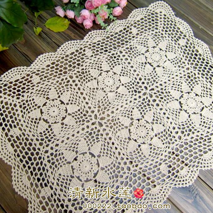 Handmade Crochet : 2014 new ZAKKA fashion crochet table runner cloth cabinet cover table ...