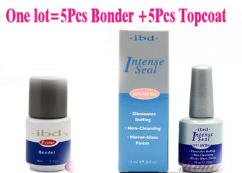 Original IBD INTENSE SEAL 0.5oz 14ml Top Coat + Primer Base Brand UV Gel