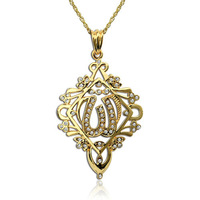 #SE0583 Wholesale New The Lowest Price High Quality Brand Pendant 24KGP Golden Fashion Allah Pendant Necklace