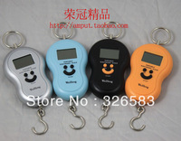 40KG Portable Electronic Scale Portable Scale Hook Scale Express Scale Spring Balance Parcel Scales Four Color