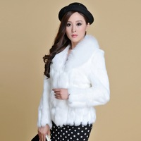 Women' New real rabbit fox fur coat jacket overcoat topcoat great chirstmas gift  6 Colors
