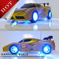 Cheap Price Speed Drift Flash Remote Control Car,Colorful Lighting Car Toys,Rechargeable Car Model
