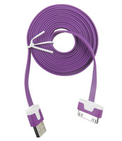 8ft 2M USB Data Sync Charge charging Cable Adapter purple noodle for Apple iPad 2 iPhone 4 4S 3GS iPod