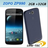 "NEW Original ZOPO ZP990 MTK6589T 1.5GHZ 2GB RAM 32GB ROM 6"" 1920*1080Pixels 1080P 13mp 3g gps android mobile phone quad core E"