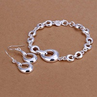 Free Shipping!925 Silver Jewelry Set,Fashion Sterling Silver Jewelry,Horseshoe Bracelet Earrings SMTS337