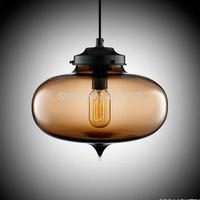 Hot Selling Niche Modern Glass Pendant Lights+Free shipping+Vintage Bulb,Dining Room Pendant Lamp,Italy Design Lighting PL074