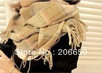 2013 New autum winter 200x65cm Multicolor Scarves Long Large Warm Wool Blends Soft Wrap Scarf Shawl Tassels Hijab