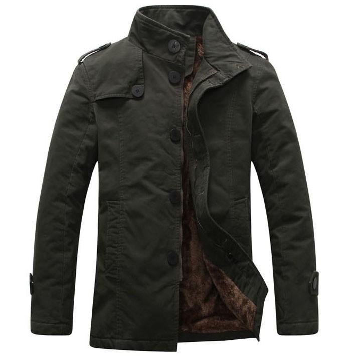 2014 New Arrival Korea Style Thicken Cotton Jacket Khaki\Black\Army green Free Shipping MWJ111(China (Mainland))