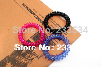 Free shipping wholesale  (50 pieces/lot) elastic telephone wire hair band hair accessories for kids cheap price