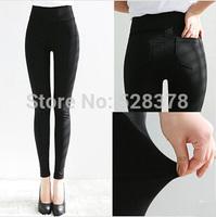 Free Shipping 2014 New Jeans Woman Pencil Pants Elastic Waist Candy Color Pencil Jeans Woman Slim Fit Fashion Pants Female t243