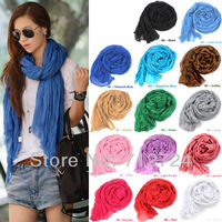 Free shipping! Vogue  Peacock blue  Womens Ladies Soft Long Stole Chiffon Wrap Scarf Shawl Scarves Wraps