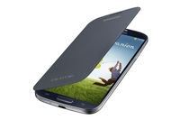 Free Shipping Samsung Galaxy S4 Flip Cover - Black + Free screen protector