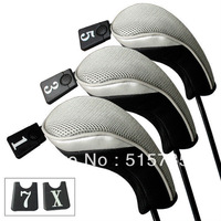 3 Pack Andux Wood driver head  covers  Interchangeable No. Tag MT/mg03 Black & Grey