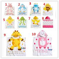 10 deisgns Promotion!-Retail Character Baby bathrobe/Cartoon kid bath towel/children's bath robes/Animal modeling Infant clothes