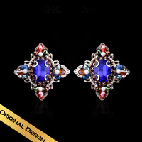 Special Stud Earrings Synthetic Diamond Austrian Crystal Natural Pearls Classic Vintage Design Free Shipping Jewelry EH13A08051