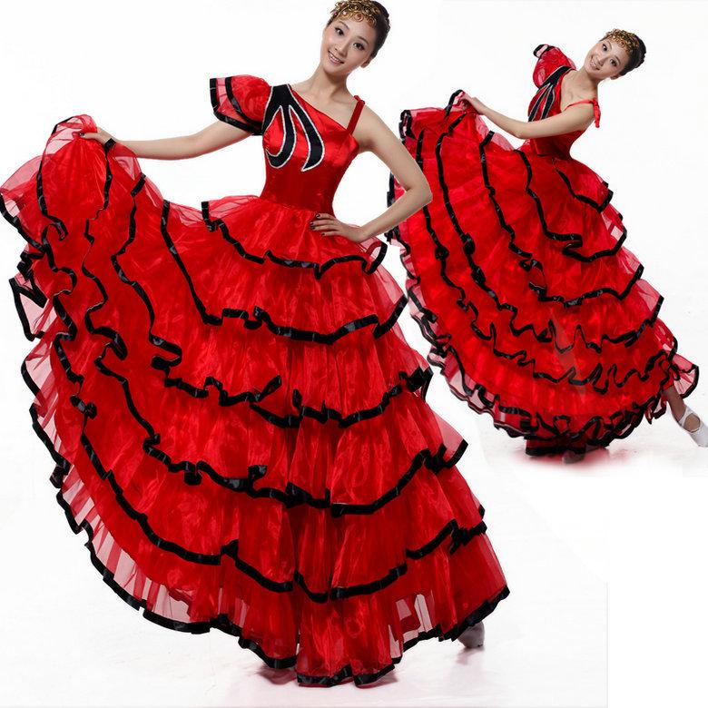 Spanish style dance dresses
