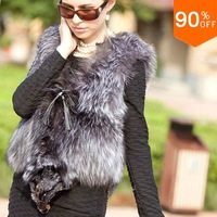 2013 real fox mink fur vest waistcoat Luxury mink fight sleeveless outerwear women's overcoat winter thick the fur coat spliced