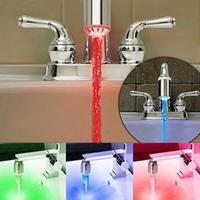 2014 Hot Sale!3 Color Water Tap Temperature Sensor Faucet RGB Glow Shower Colorful LED Light